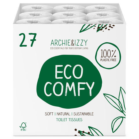 EcoComfy - Box of 27 Soft & Natural | Eco Friendly Toilet Tissue