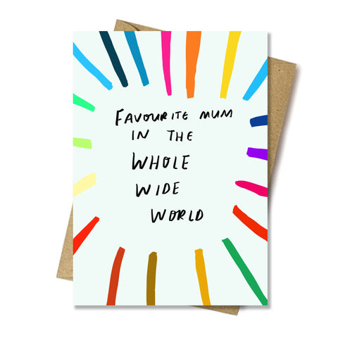 Favourite Mum in the World Card by Nicola Rowlands