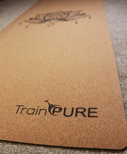 Natural Eco Cork Yoga Mat 5mm by TrainPURE Fitness