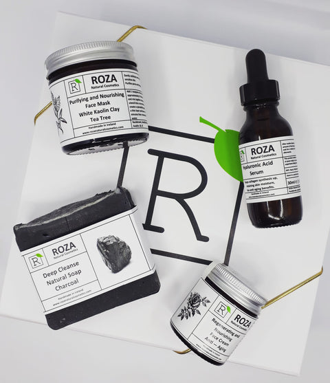 Glowing Skin Beauty Routine Set by Roza Natural Cosmetics