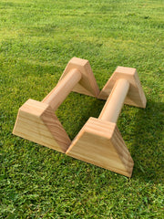 Natural Birch Wooden Parallettes 25cm by TrainPURE Fitness
