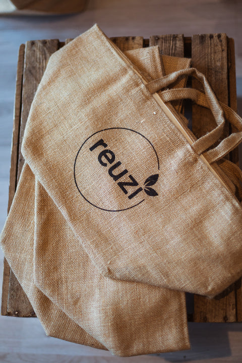 reuzi Jute Reusable Shopper Bags