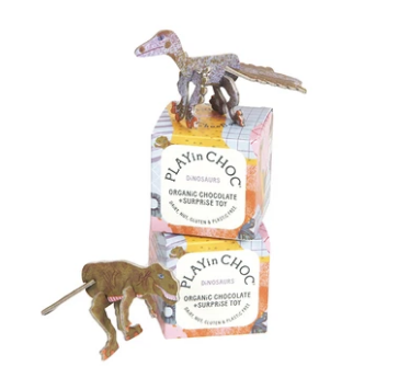 PLAYin CHOC Organic Surprise Chocolate & Toy - Dinosaurs