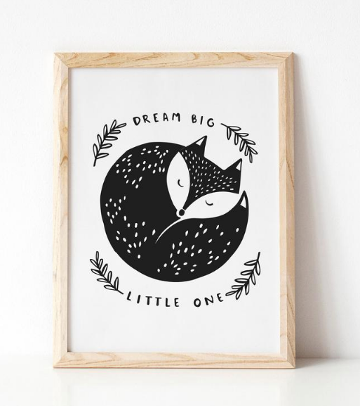 Dream Big Little One A4 Print by Under the Willow Paper Co.