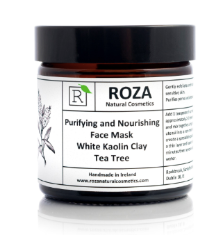 Purifying and Nourishing Face Mask with White Kaolin & Tea Tree by Roza Natural Cosmetics