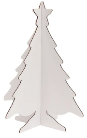 Recycled 3D Colour-In Christmas Trees | Small