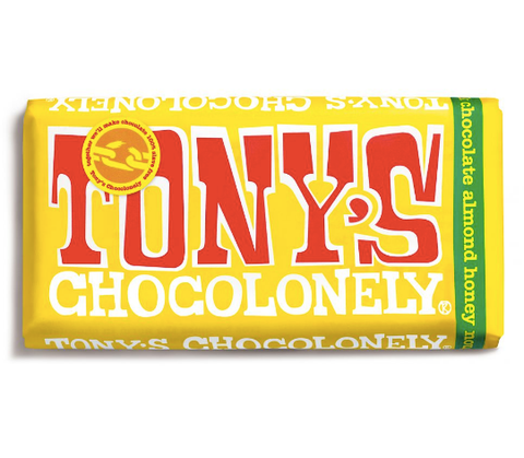 Tony's Chocolonely 100% Slave-Free Fairtrade Belgian Chocolate Bar - Milk Chocolate Nougat | 180g