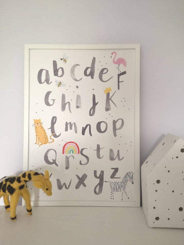 'From A Bee to A Zebra' Alphabet Print by Pickled Pom Pom