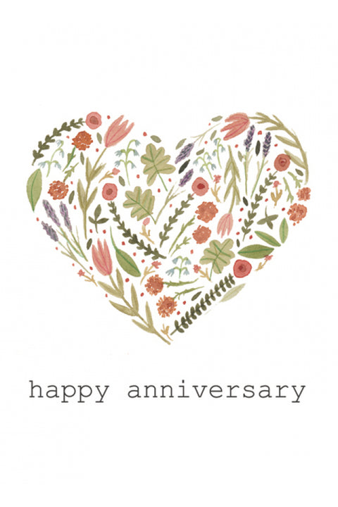'Happy Anniversary' Card by Maria Jose Gonzalez Cards - Made in Co. Dublin, Ireland