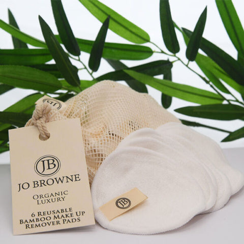 Organic Luxury Reusable Bamboo Make up Remover Pads x 6 by Jo Browne