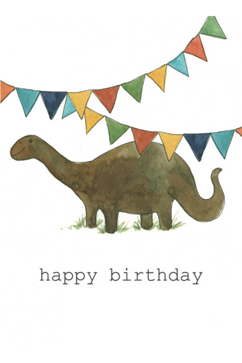 'Dinosaur Birthday' Card by Maria Jose Gonzalez Cards - Made in Co. Dublin, Ireland