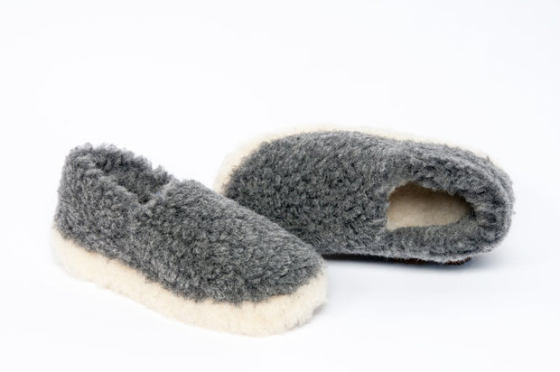 Irish Pure Wool Slippers - Graphite