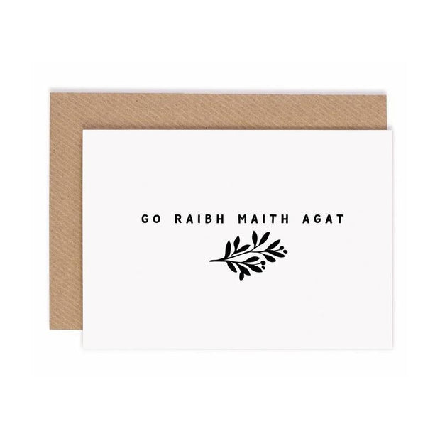 Go Raibh Maith Agat Card by Under the Willow Paper Co.