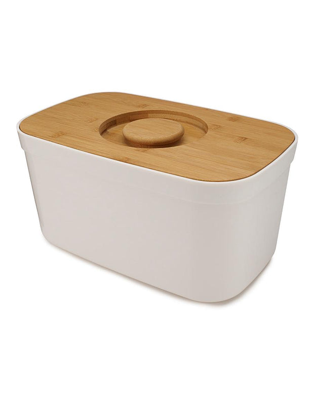 Joseph Joseph White Bread Bin with Bamboo Chopping Board Lid