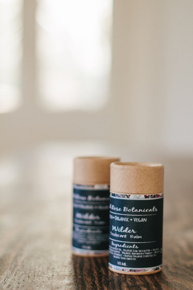 Wilder Vegan Deodorant Balm by Wild Rose Botanicals