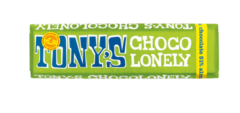 Tony's Chocolonely 100% Slave-Free Fairtrade Belgian Chocolate Bar -  Dark Chocolate with Almonds and Sea Salt | 47g