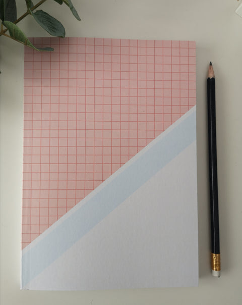 Pink & White Notebook