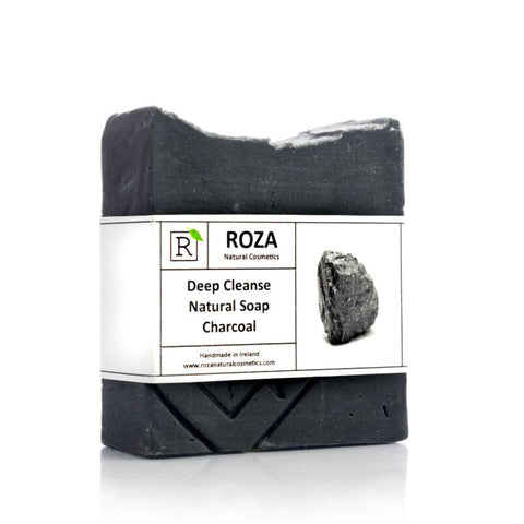 Natural Charcoal Deep Cleanse Soap Bar by Roza Natural Cosmetics