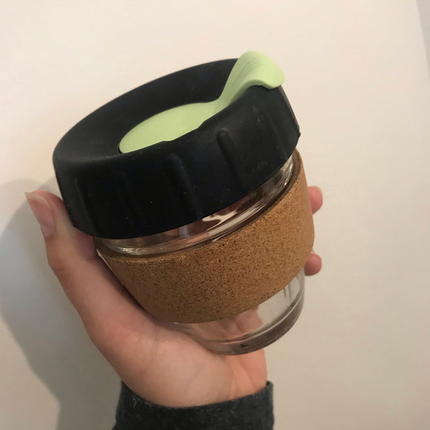 Reusable Coffee Cup with Cork Band 8oz