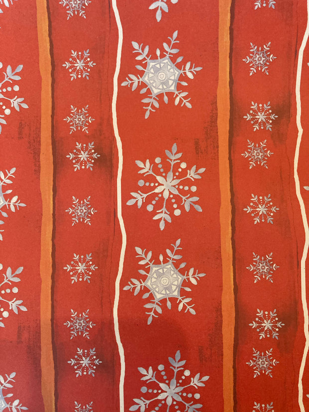 Recycled Gift Wrapping Paper - Snowflakes