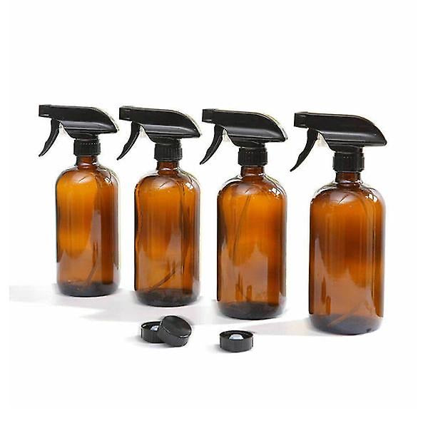 Reusable Amber Glass Bottle | 500ml | Trigger Spray or Lotion Pump