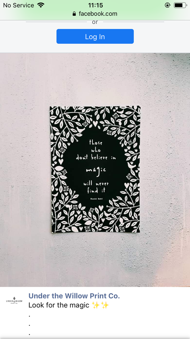 Those who don't believe in magic will never find it A4 Print by Under the Willow Paper Co.
