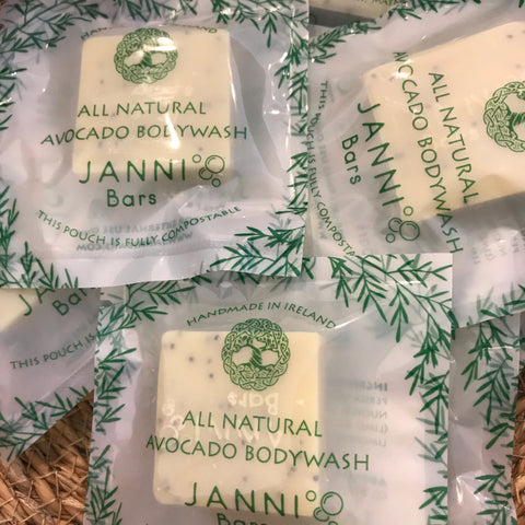 MINI Avocado Body Scrub Bar by Janni Bars