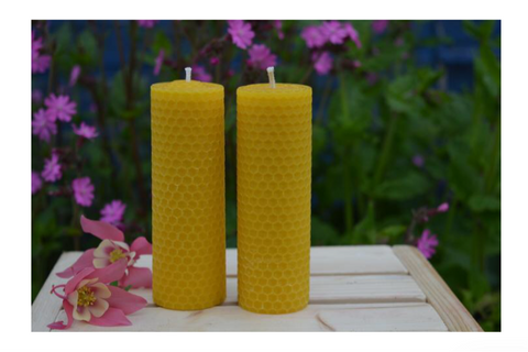 Beeswax candle by Trish's Honey Products