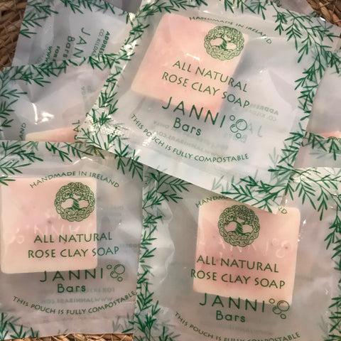 MINI Rose Clay Detox Body Bar Soap by Janni Bars
