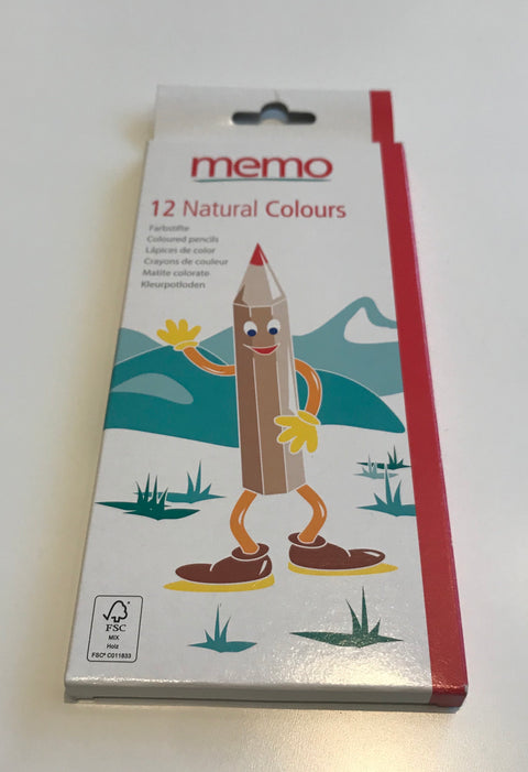 12 Natural Colouring Pencils by memo