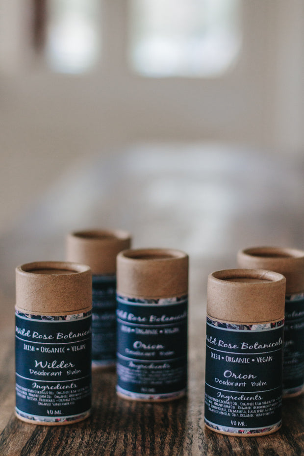 Orion Vegan Deodorant Balm by Wild Rose Botanicals