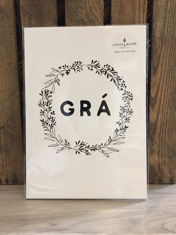Grá A4 Print by Under the Willow Paper Co.