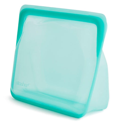 Stand Up Silicone Bag by Stasher - Aqua
