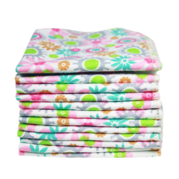 Organic Washable Cloth Wipes x 10