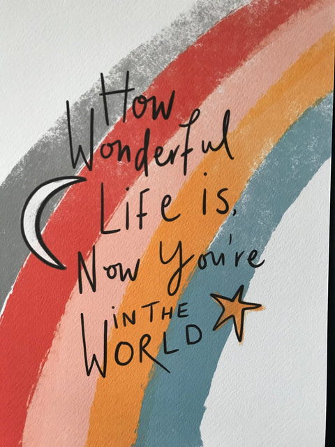 How Wonderful Life Is Print by Pickled Pom Pom