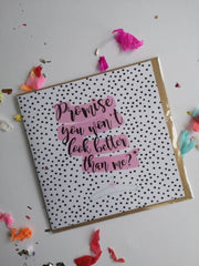 Promise? | Bridesmaid Card by Pickled Pom Pom