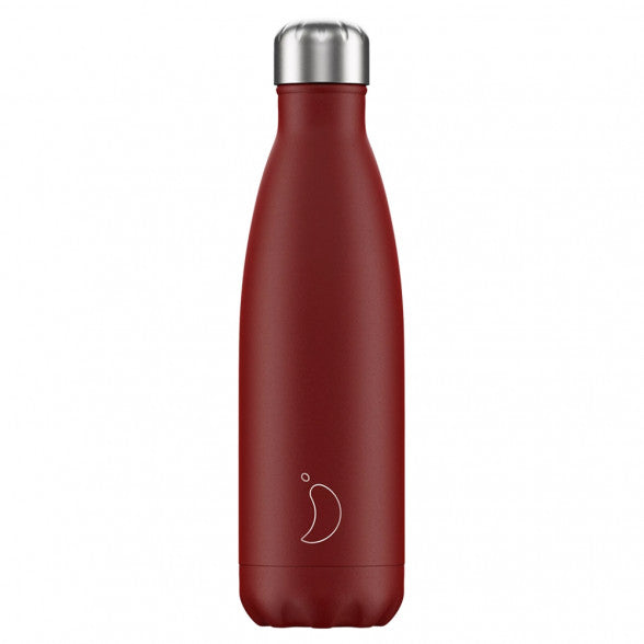 Burnt Red Insulated Bottle by Chilly's - 500ml