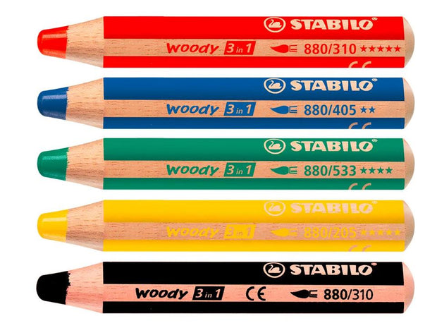 Flipchart Woody Thick Super Soft Pencils | 5 Colours