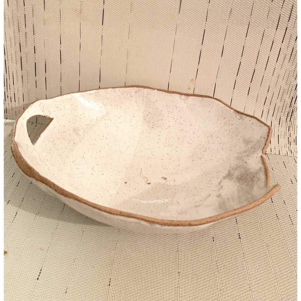 BOWL- HANDBUILT SERVING DISH