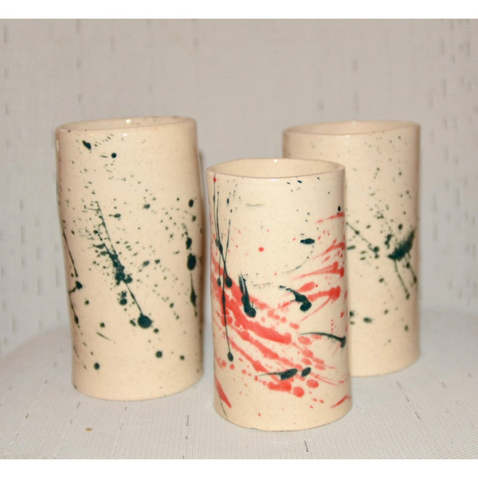 SPLASH VASES with GREEN