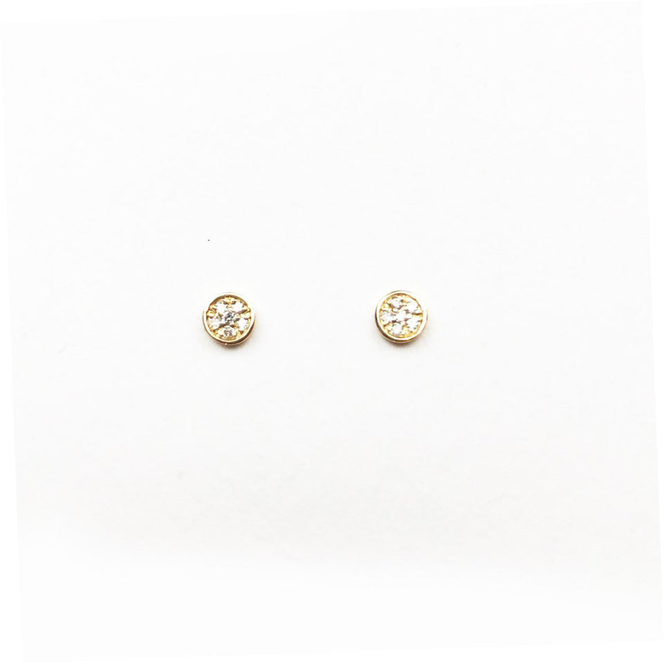 MINI SPARKLING CIRCLE STUD