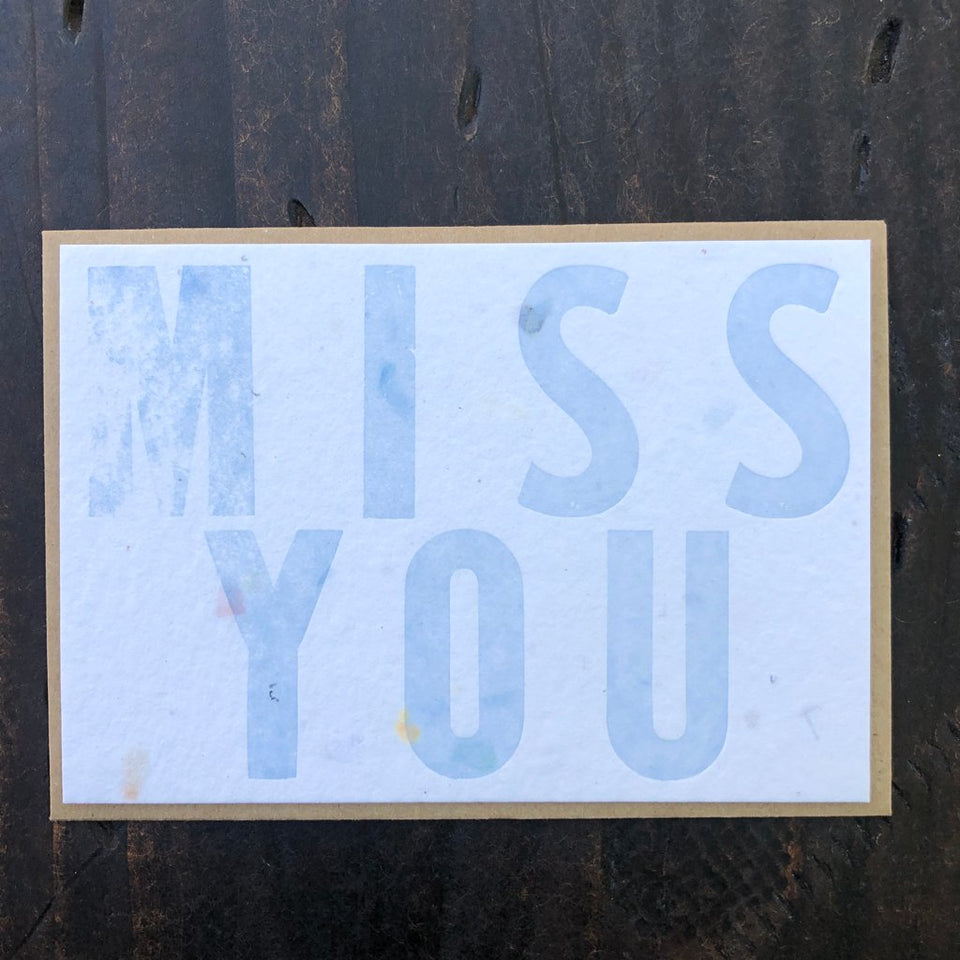 Letters - Individual Cards - Miss You