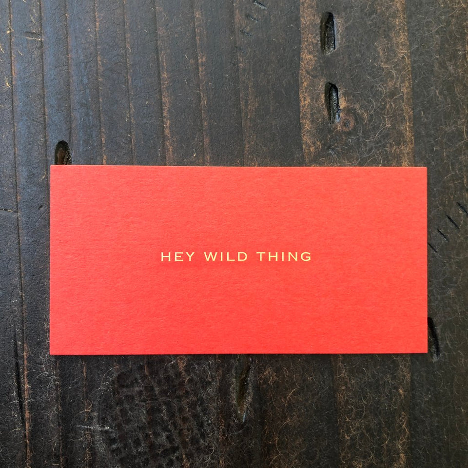 Social Nod Red - Hey Wild Thing