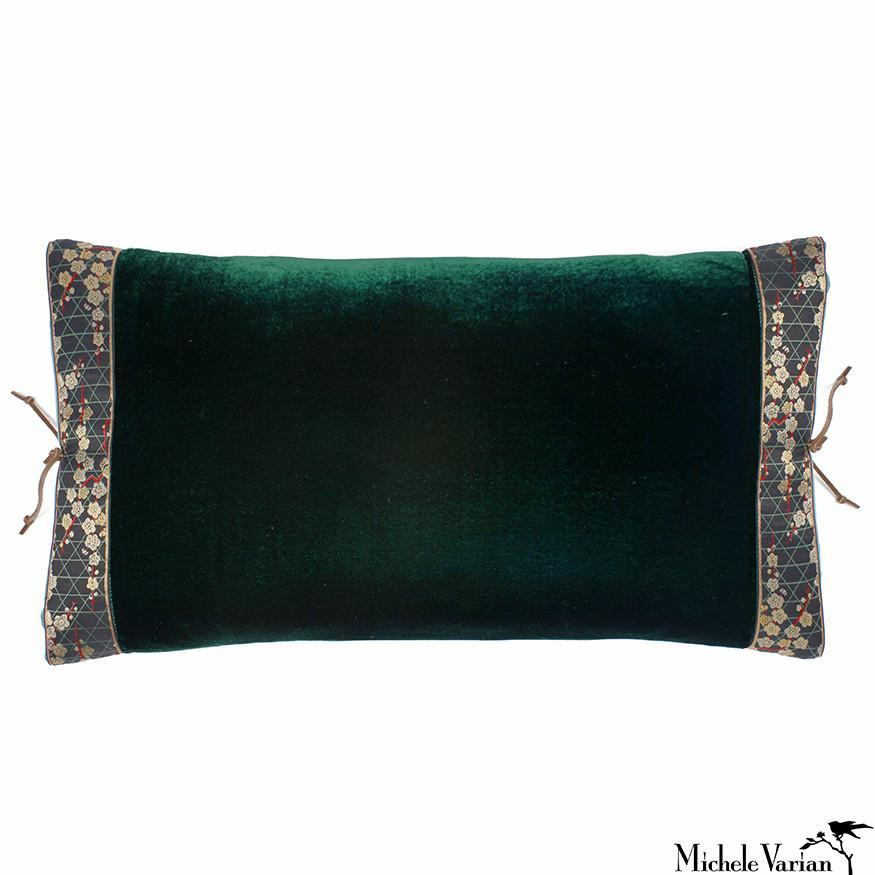 Silk Velvet Pillow Spruce 12x22
