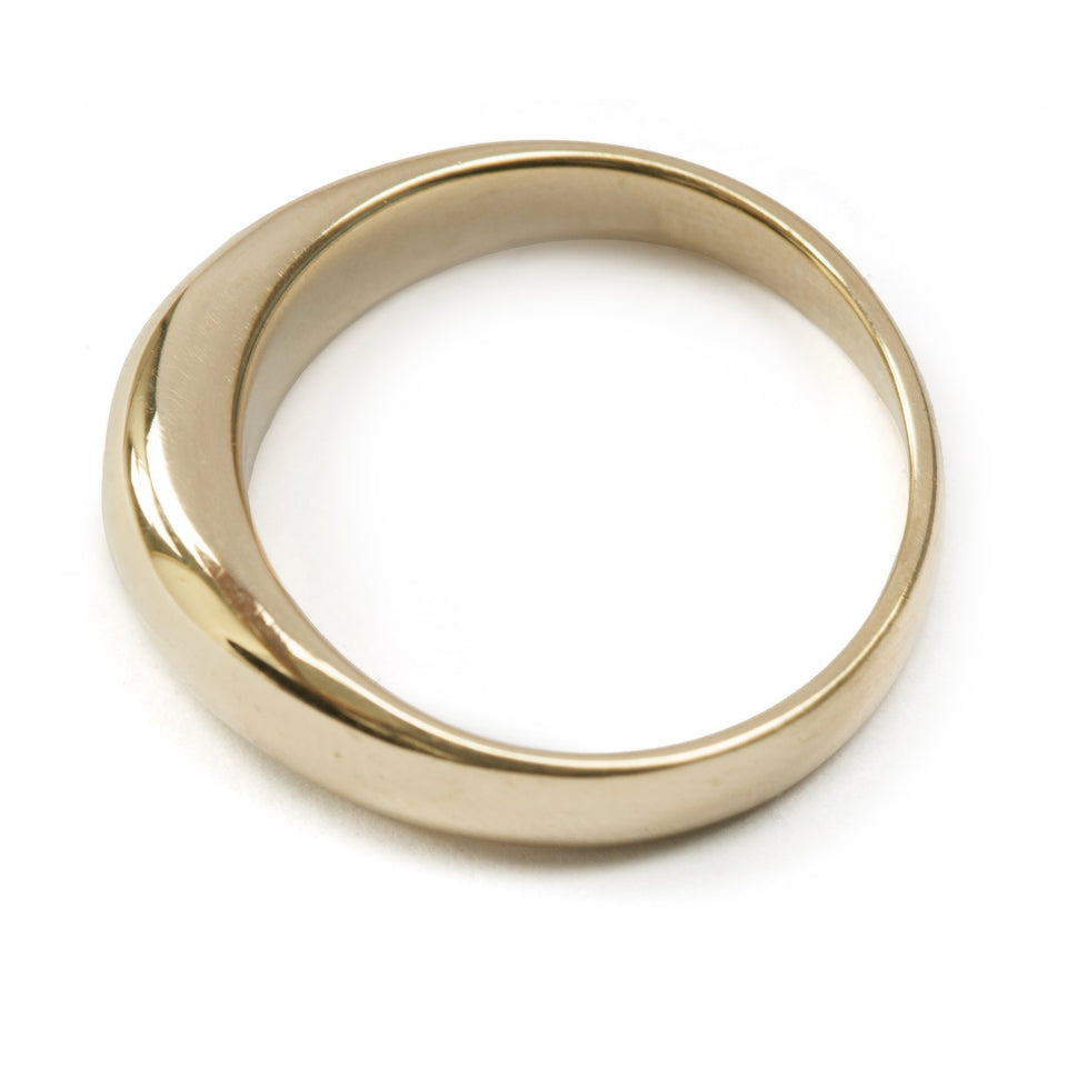Gold Tapered Ring
