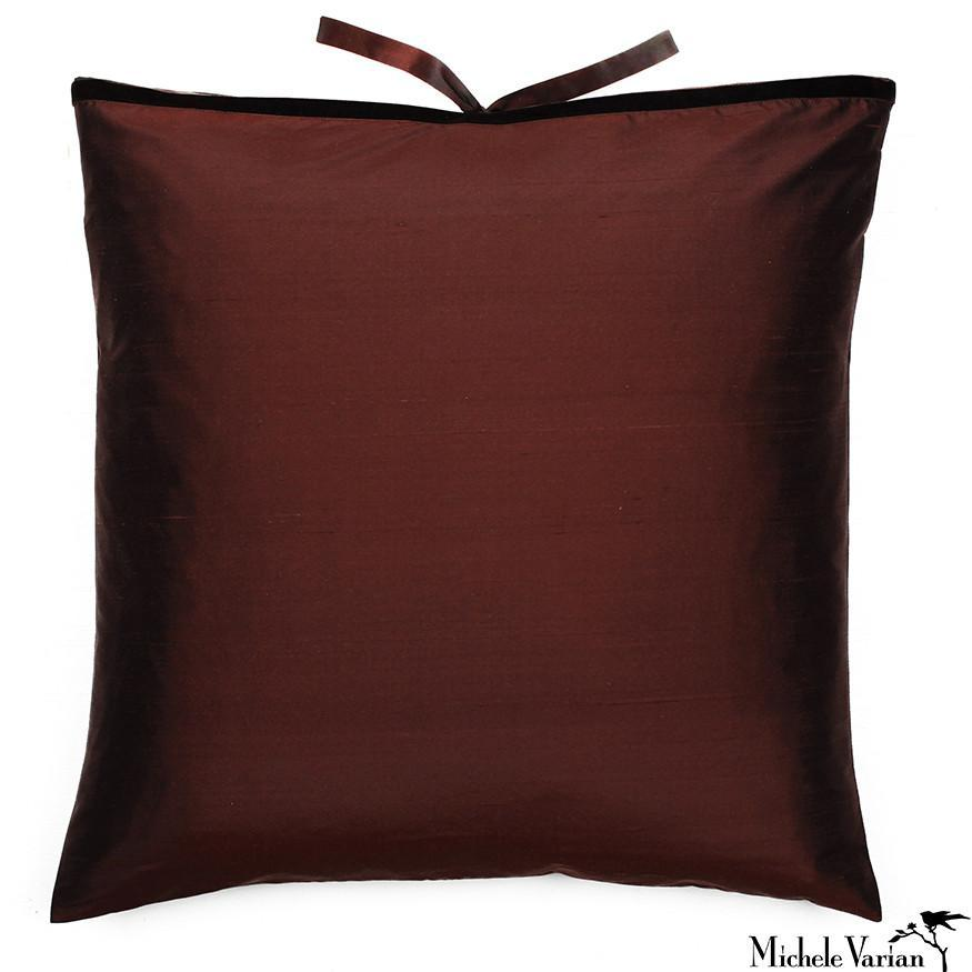 Silk Dupioni Pillow Chocolate 22x22