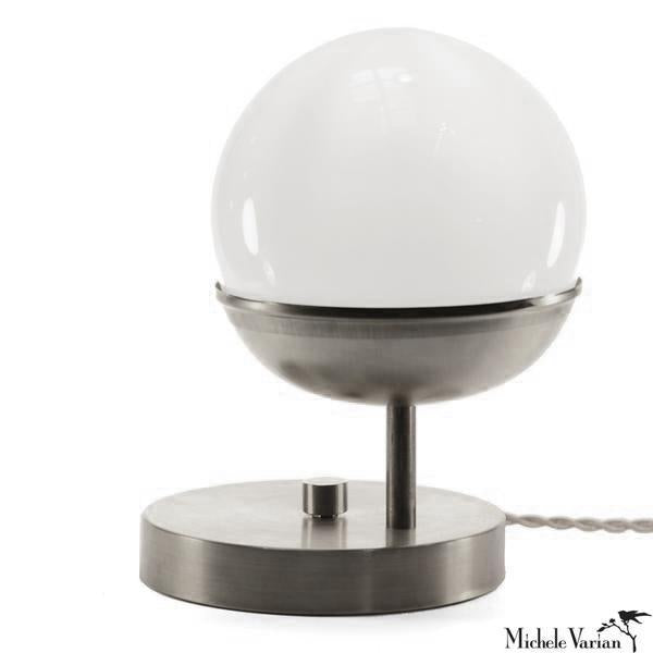 Steel Off Center Globe Table Light