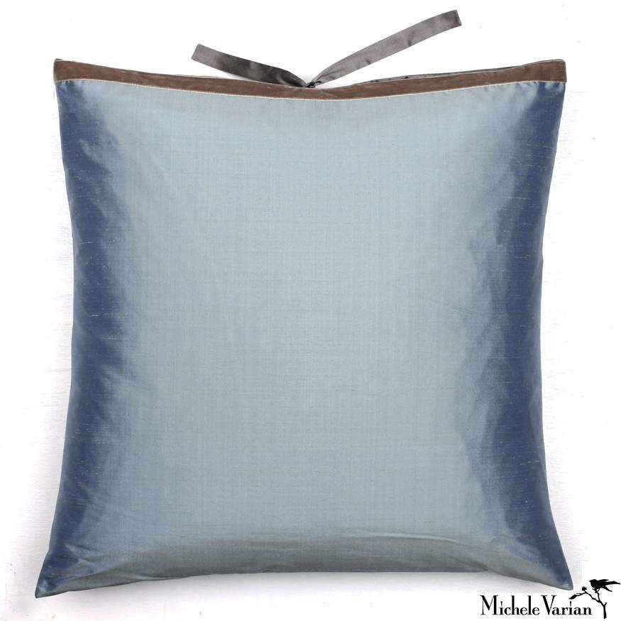 Silk Dupioni Pillow Slate 22x22