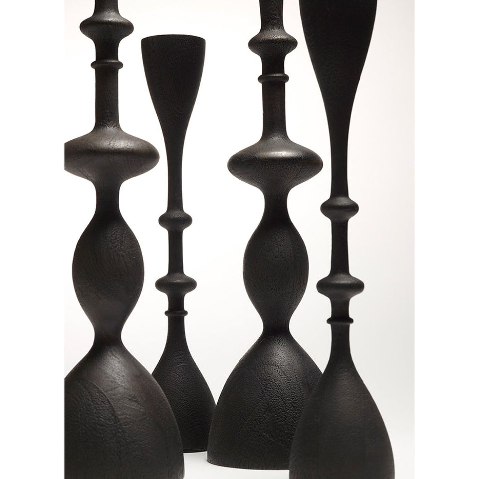 Wave Candlestick, small, Black