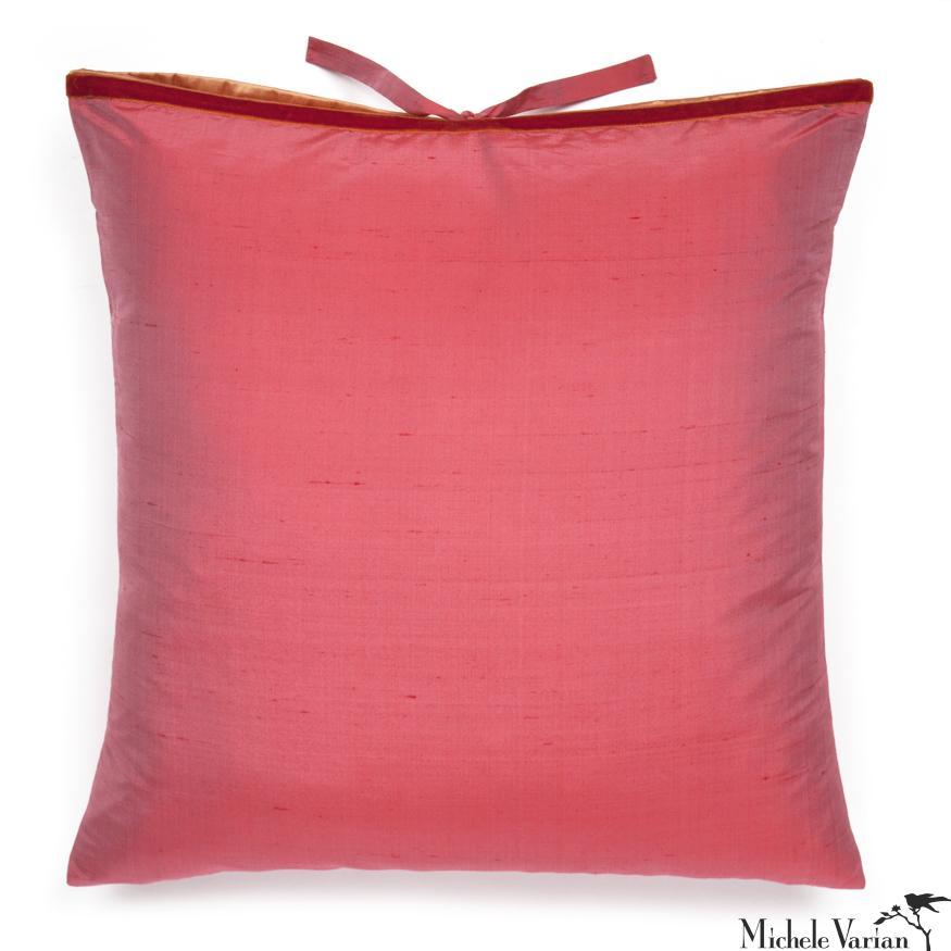 Silk Dupioni Pillow Watermelon 22x22